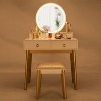 2020 три раза зеркало тумба с заправкой стул моды современных дам туалетный столик макияж таблицы хранения белый дом дам туалетный столик