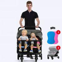 Fold Twins Stroller Mutiple Stroller Baby Carriage