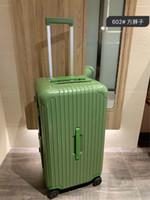 حقائب عالية الجودة PC المضادة للتآكل المواد TSA الجمارك قفل سميكة سبائك الألومنيوم حقيبة زاوية سعة كبيرة حقائب الطيران الملاكمة