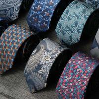 Boyun Kravat Seti Erkekler Için 7 CM Bağları Çiçek Kravat Paisley Gravata Corbatas Örgün Erkek Cravate Homme Hediye Düğün İş Partisi