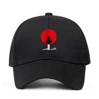 Cappelli firmati 100% cotone Akatsuki anime Naruto giapponese Uchiha sasuke ricamo tappi da baseball cappelli snapback cappello 2020