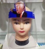 Trump Trasparente Visiera riutilizzabile spugna Visiera Maschera Occhi Protect Anti-Fog layer da maschere Olio Viso Splash Visor Trump GGA3582-7