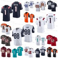 Por Atacado 1 Cam Newton 88 Ceederee Lamb 12 Tom Brady 9 Joe Burrow 1 Tua Tuavailoa Jerseys de Futebol 99 Chase Young Homens Mulheres Jovens Onsale