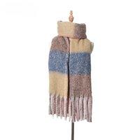 shippping 레이디 패션 격자 무늬 스카프 여자 소프트의 간단한 스카프 여성 가을 겨울 두꺼운 목도리 술 격자 삼각형 목도리