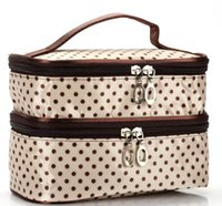 Designer Handbag 2020 New Arrival Moda Explosão Modelo Wavelet Double Layer pequeno Dot Cosmetic Bag