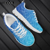 HYCOOL Harajuku Women Men Mesh Sneakers for Sports Navy Blue...