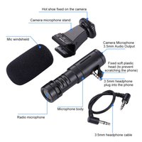 Microphone Mini Portable 3.5mmのインターフェイスビデオカメラインタビューデジタルカメラSamsungスマートフォンのmicroephone