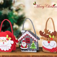 Noël non tissé bonbons Sac portable Père Noël cadeaux Sack Porte-Sac d'arbre de Noël Cadeaux de partie sacs Traitez vacances du Nouvel An Décoration LJJP289