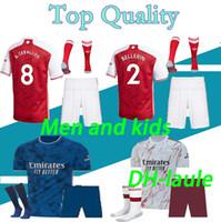 Tierney Erkekler ve Çocuklar 20 21 Futbol Forması Ceballos Henry Futbol Gömlek 2020 2021 David Luiz Maillot De Ayak Yetişkin Seti Çorap Ile Setleri