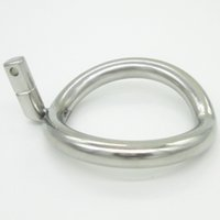NOVO Super pequeno Stainless Steel Male Chastity Gaiolas pica Dispositivo anel adicional Cock Ring 8 Tamanho Escolha Adult Sex Toys Y18110302