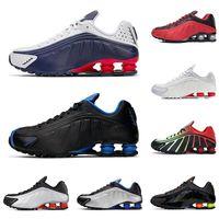 New shox R4 homens correndo formadores sapatos da moda prata Comet Red triplo preto metálico EUA Racer sapatilhas azuis homens de esportes de corrida curta