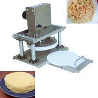 Elektrikli Pizza Hamur Levha basılması makinesi 22cm buğday unu tabakalama makinesi Kepçe pasta makinesi tortilla üreticisi hamur