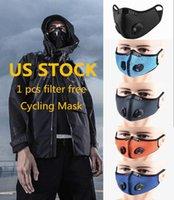 US STOCK Filtre adulte Noir Designer Mode Masques Recycle jetable visage avec l'extérieur Valve Cyclisme visage sport dans les filtres Livraison gratuite