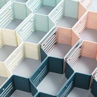 12 Honeycomb Plaid Storage Cabinet Honeycomb Chaussettes Sous-vêtements en plastique Closet Diviseur Tiroir pour maison Organisateur Nesting Stockage