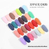 Glitter de uñas Polvos de nieve Nail Woolen Powder Decoración de uñas Polvo DIY Nuevo estilo 9 Color para elegir 2G / botella