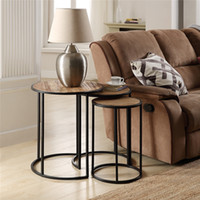 WACO Coffee Table, 3 PCS Industrial Nesting Side, Living Room Sofa Console Stacking End Tables, Metal