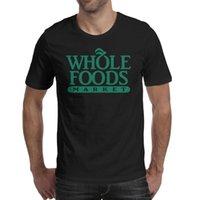 Moda uomo Intero alimenti mercati nero girocollo t-shirt slogan personalizzato slogan camicie flash oro bianco marmo logo