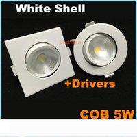 Led COB Dimmable Downlights ronde carrée 5W dirigé vers le bas éclairage encastré au plafond d'éclairage AC 110-240V CE UL SAA