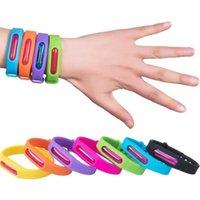 Anti Mosquito anneau couleur gelée bonbons imperméable anti-moustique bande Bracelets enfants silicone main poignet bande