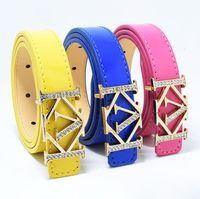 Designer de marca Crianças cintos meninos moda meninas pu cintas de couro clássico crianças fivela lisa calça cintura cintura cintura cinta s353