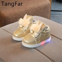 Children' s Ears LED Breathable Shoes Boys and Girls Pea...