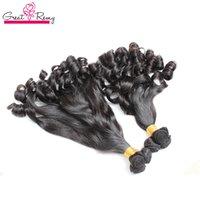 Greatremy® 3pcs / lot 100% brésilien Virgin Hair Extensions Funmi Trames Tatie cheveux Spirale Curl Couleur naturelle Bouncy Curls Bundles cheveux