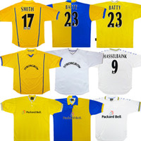 2000 01 Retro LEEDS Hasselbaink Soccer Jersey 77 78 96 97 98 99 SMITH KEWELL HOPKIN United Chemise classique antique de football