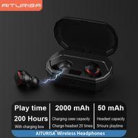 AITURISA TWS 5.0 Bluetooth Wireless Earphones True Wireless Earbuds in-Ear Stereo with Microphone Binaural Calls Headset
