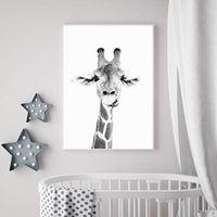Abstract Wall Art Giraffe Photograph Canvas Painting Funny C...