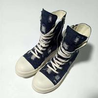 Pantalones vaqueros de los hombres de moda las botas zapatos de los hombres zapatillas de deporte de los hombres Ro otoño del resorte de los zapatos ocasionales 10 # 21 / 20d50