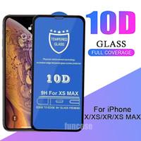 تغطية 10D الزجاج المقسى ريال 9H قسط غطاء كامل منحني شاشة السينما حامي للحصول على 12 البسيطة برو 11 ماكس XS XR X 8 7 6 6S زائد SE