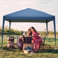 Sombra práctica impermeable al aire libre picnic fiesta azul toldos 3 x 3m puertas Dos ventanas pérgola ángulo recto tienda plegable