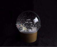 Snow Globe d'or parfum bouteille à l'intérieur 2016 Neige Boule de cristal pour anniversaire spécial nouveauté de Noël