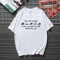 Черный Lives Matter Мужской футболка Друзья Justice майк 2020 Летней Streetwear Camisetas Лучшего качество хлопок Unisex Tshirt