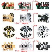 Черные Lives Matter Pin Badge Эфирное масло штыри кнопки куртки пальто воротник Pin знак ювелирных изделий партии Favor