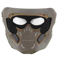 Máscara Máscara WoSporT Crânio Airsoft Paintball completa Halloween Party Tactical Rosto
