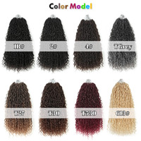 18inch Goddess Faux Locs within 1pcs Curly Crochet Braid Boh...