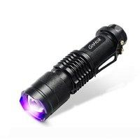 3W WF-501B CREE LIGHT Latarka LED Fioletowa Światła UV 395-410NM Ultrafioletowy Lampa Lampa Lampa Portable Latternas Pieniądze Wykrywacz plam