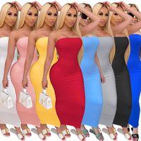 женские сексуальные Tight без бретелек обертывание груди платья высокой стрейч тощий Bodycon длинное платье моды ночного клуба S уличной-5XL плюс размер одежды