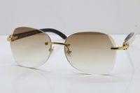 2020 Nova edição 3.524.012 aro preto Mix Genuine White Buffalo chifre óculos Unisex limitada espessura boa qualidade lentes da