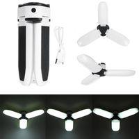 Tragbare Laternen 60 LED-Arbeitslicht USB-Wiederaufladbare Solarbetriebene Lampe Outdoor Camping Not-Arbeitslicht für Garagen Keller