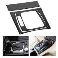 Areyourshop Carbon Fiber Console Caja de cambios de cambio de caja de cambio para Benz C Class W204 S204 2007-2014 Coche Accesorios Interior Piezas