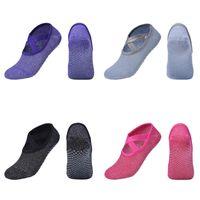 Sport calzini antiscivolo capo rotondo brillante Spots C2 Aqua calzino antiscivolo Shoestring Scarpe Yoga Danza Cotone Colore Muti 5CH