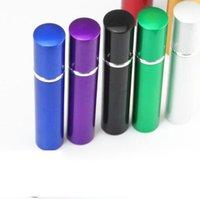 7 색 부드러운 알루미늄 향수 병 10ml 재충전 가능한 향수 분무기 여행 병 향수 유리 스프레이 병 홈 향수