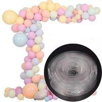 DIY Lateks Balonlar Modelleme Aracı Plastik Balon Zincir 5M Balon Tie Topuz Aracı doğum günü partisi Düğün Dekorasyon SN1555 Malzemeleri