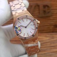 Paslanmaz çelik kasa kuvars dial steril 2020 yeni elmas 33 mm Kraliyet İzle kadın Oak Yüksek Kaliteli saatler kol saatleri