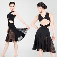 Ropa de baile de Meshlatin de desgaste de la etapa MUJER A BUDE DE LATRINA Vea a través de vestidos Salsa Sexy Party Club Vestido JL1130