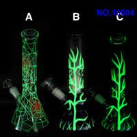 Гласс Бонг водопроводная труба светятся в темно-зеленых 10.5 Inch трубы стекло курения с 14мм Jolint стекла Downstem и миски бесплатная доставка дд