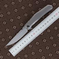 Grüner Dorn Mini persisch Flosse Messer D2 Klinge Titanlegierung Griff Camping im Freien Obstmesser praktische Klappmesser EDC-Tool