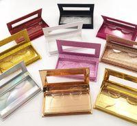 Glitter Rhinestone Lash Case 3D Mink Eyelashes Empty Custom Packing Boxes Glitter Rhinestone Lashes Cases Without Eyelash